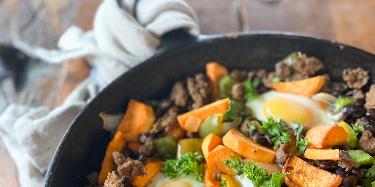 Southwestern Skillet: a Healthy Cast Iron Breakfast